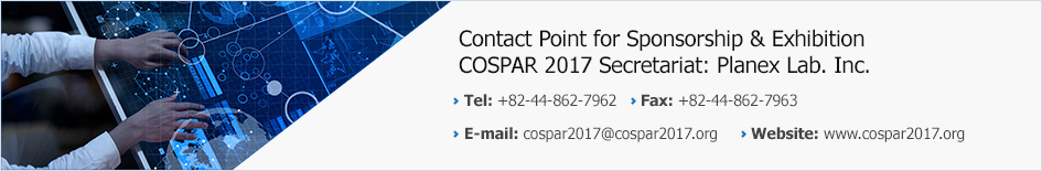 Contact Point for Sponsorship & Exhibition COSPAR 2017 Secretariat